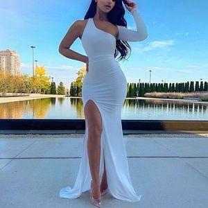 White Small/Xsmall Maxi Evening Dress Fashionnova